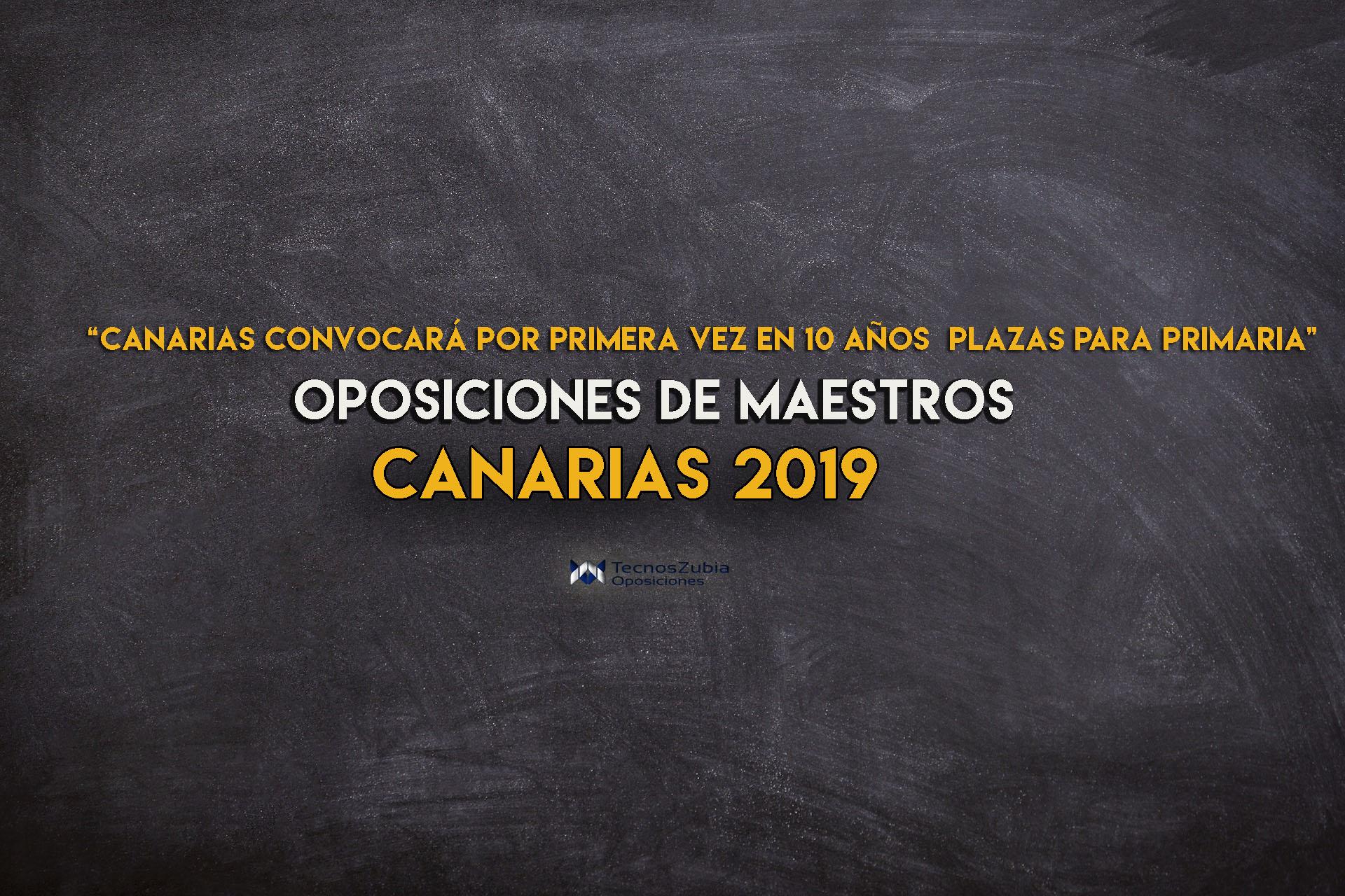 Oposiciones de maestros Canarias 2019