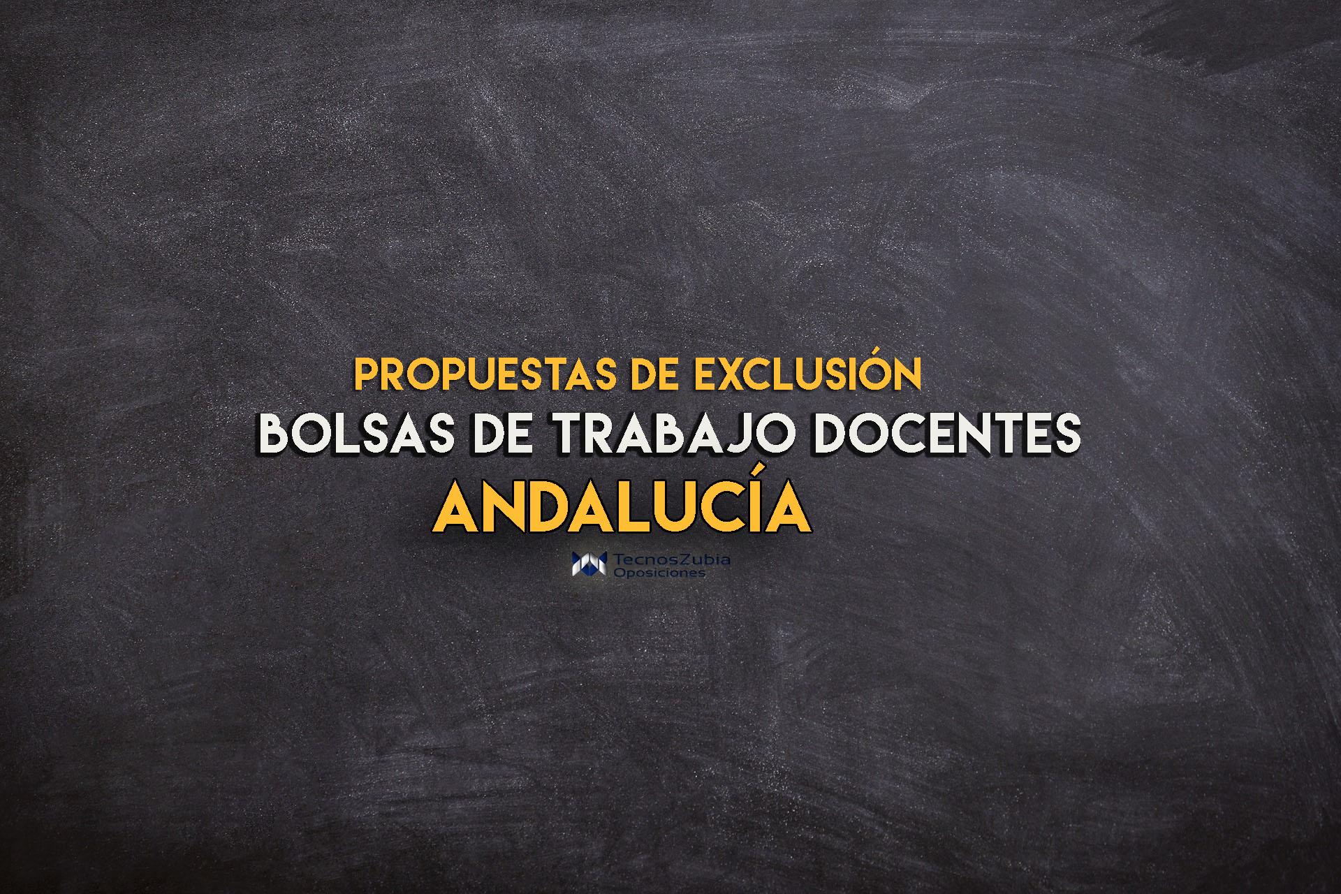 listado de excluidos bolsas de trabajo docentes Andalucia