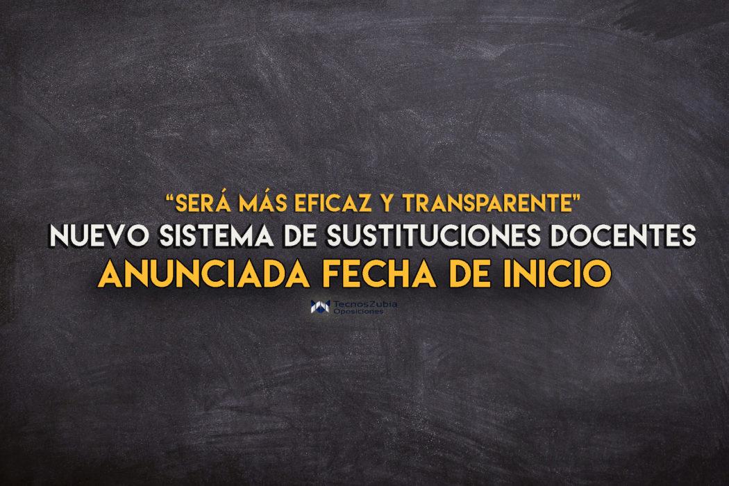 ¿Cuándo se pondrá en marcha el sistema de sustituciones docentes?