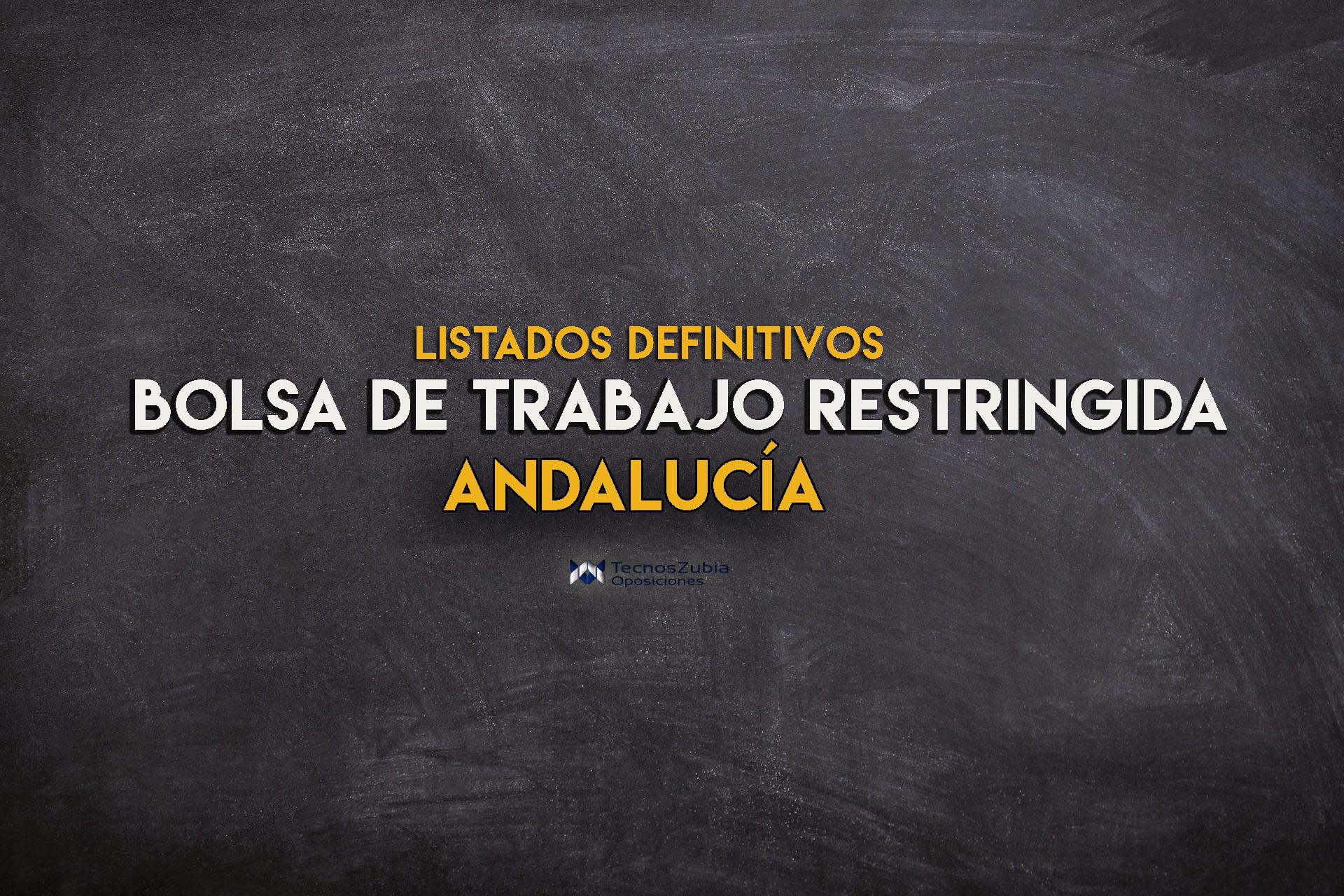 Bolsa docente en Andalucía: listados definitivos