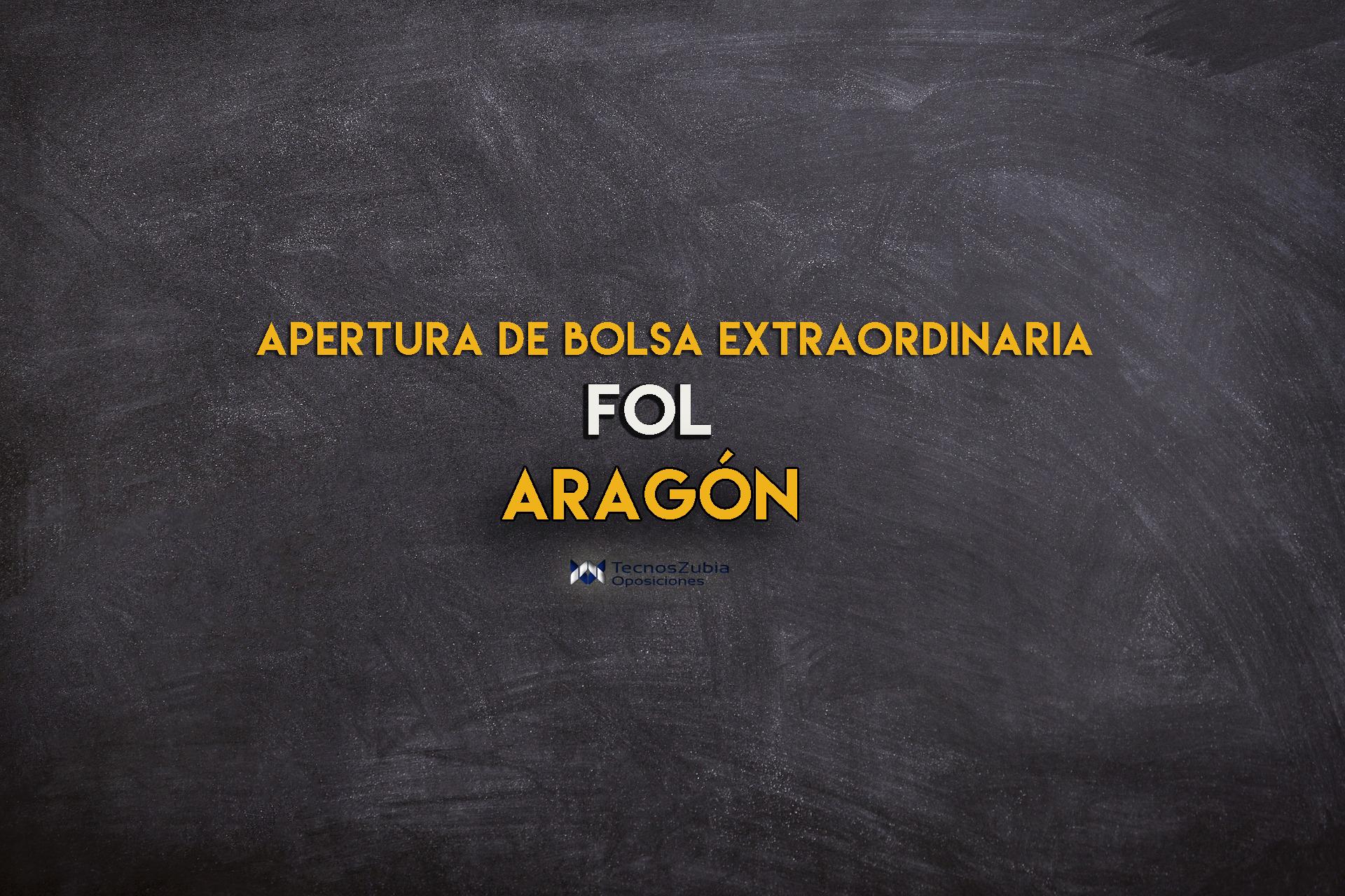 Apertura de bolsa extraordinaria de FOL (Formación y Orientación Laboral) en Aragón