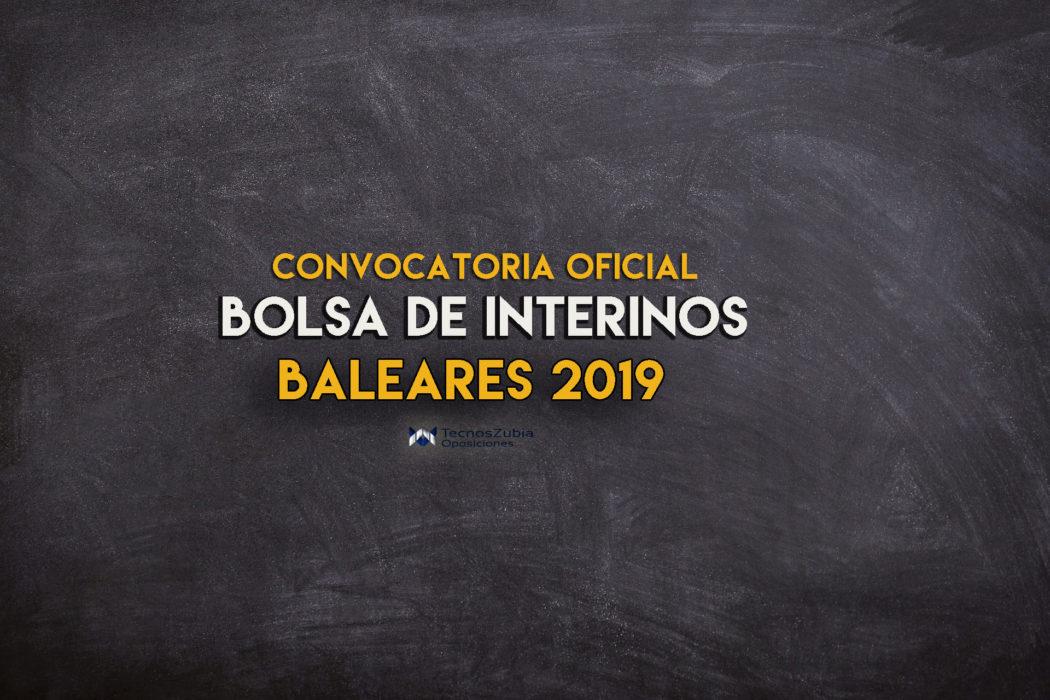 Convocatoria oficial para acceder a la bolsa de interinos en Baleares 2019