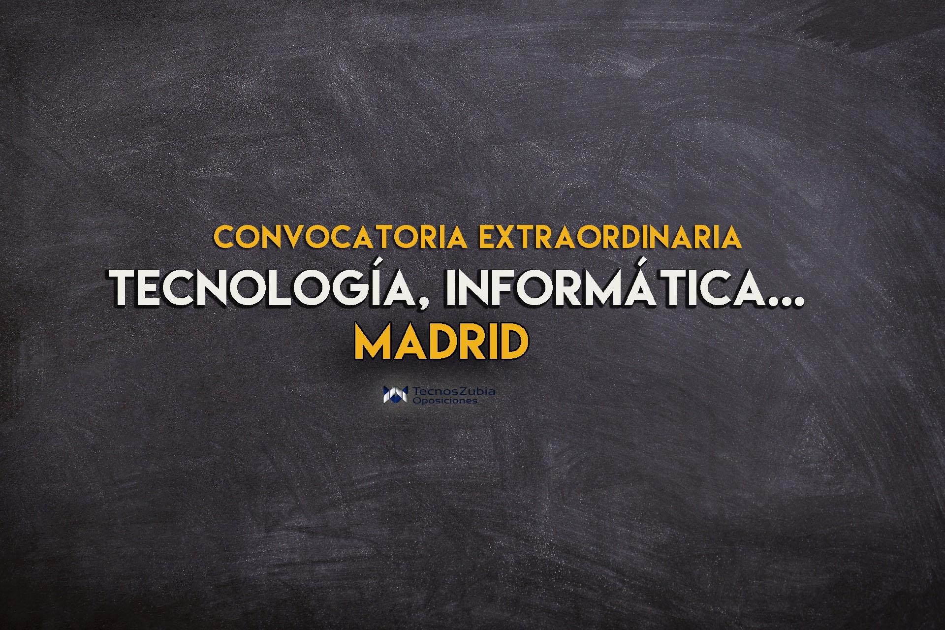 convocatoria extraordinaria de bolsas de Profesores de Enseñanza Secundaria en Madrid