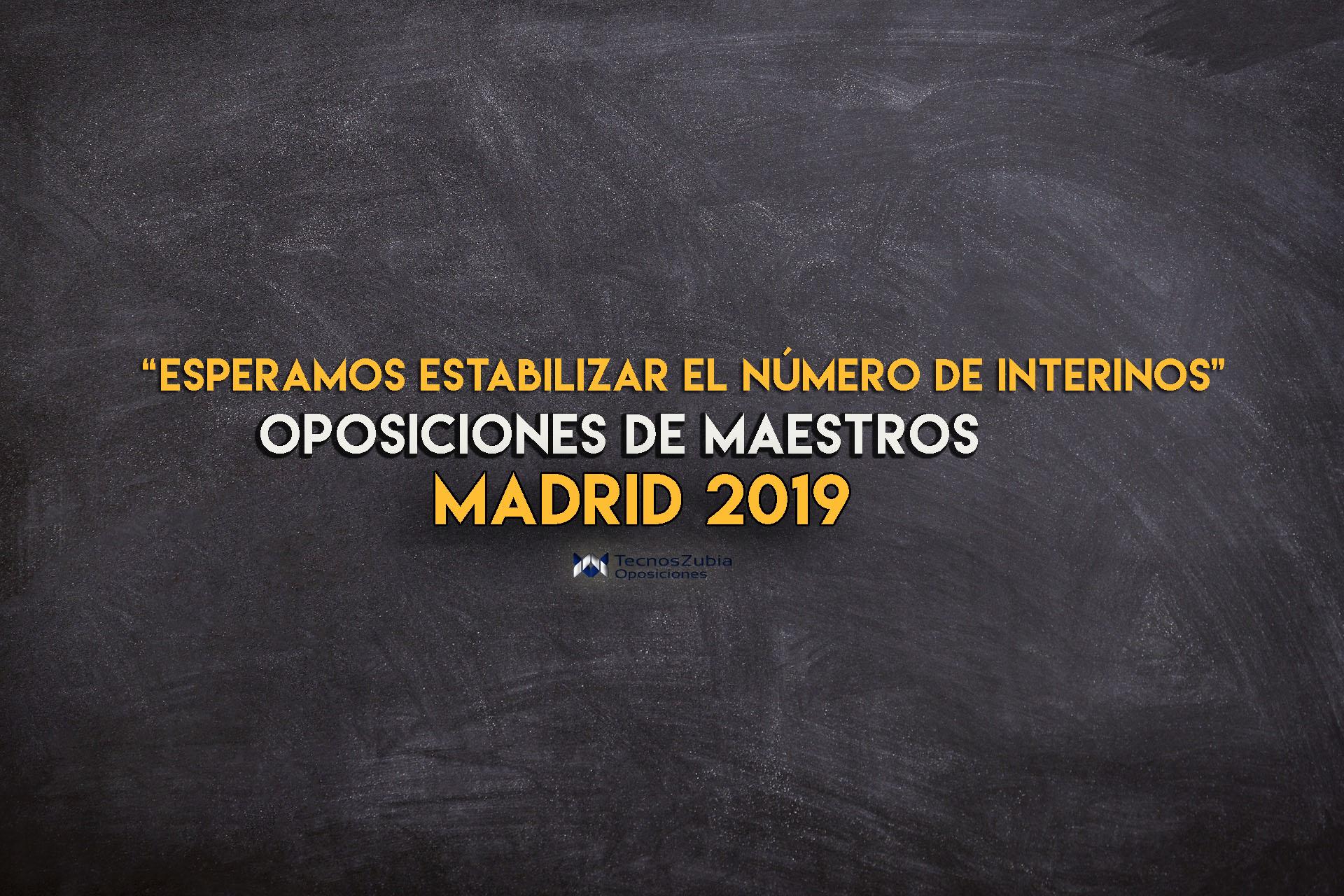 oposiciones de maestros en Madrid 2019: anunciadas