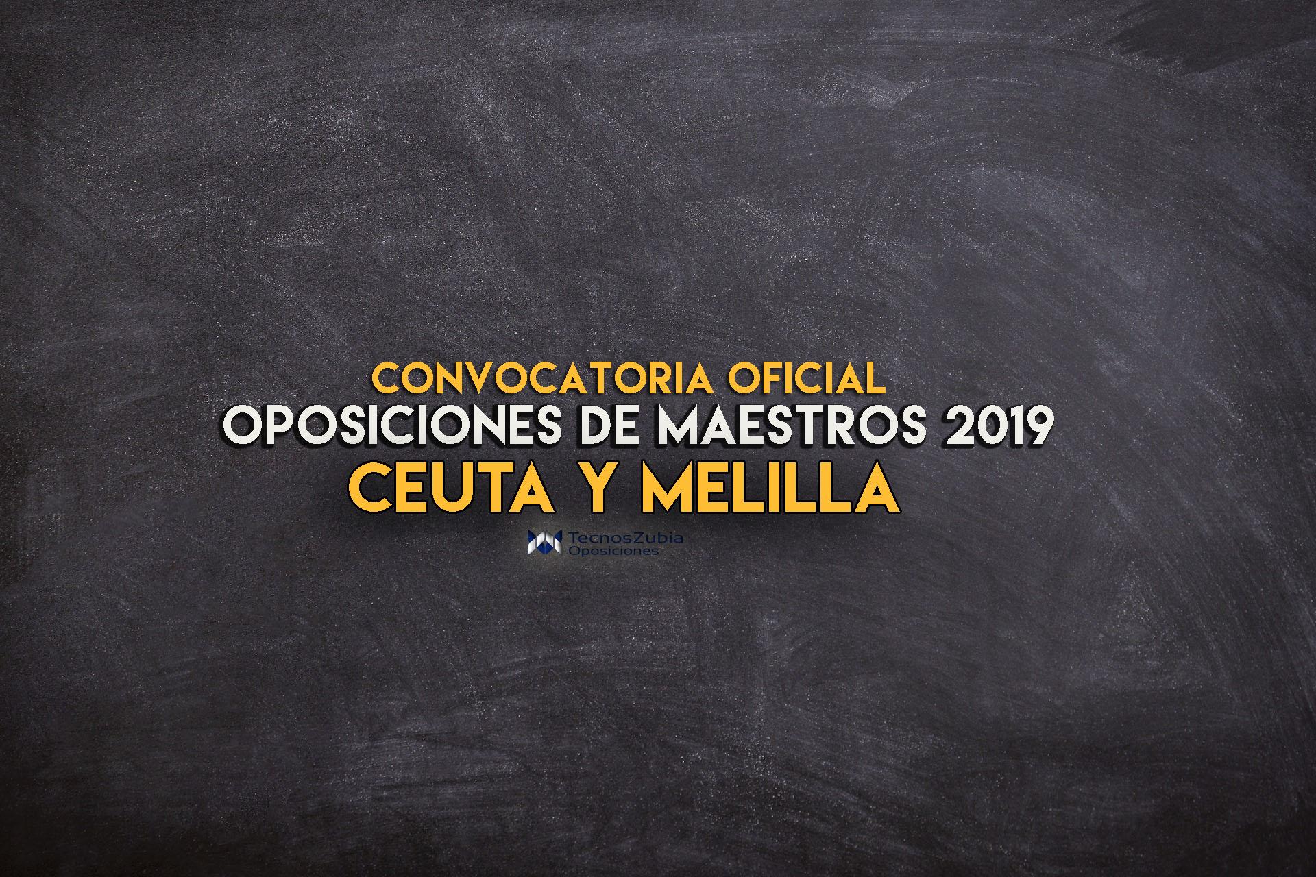 Oposiciones de maestros Ceuta y Melilla