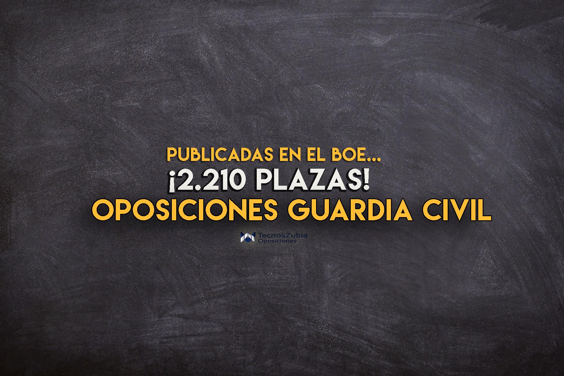 Publicadas las plazas de las oposiciones Guardia Civil 2019