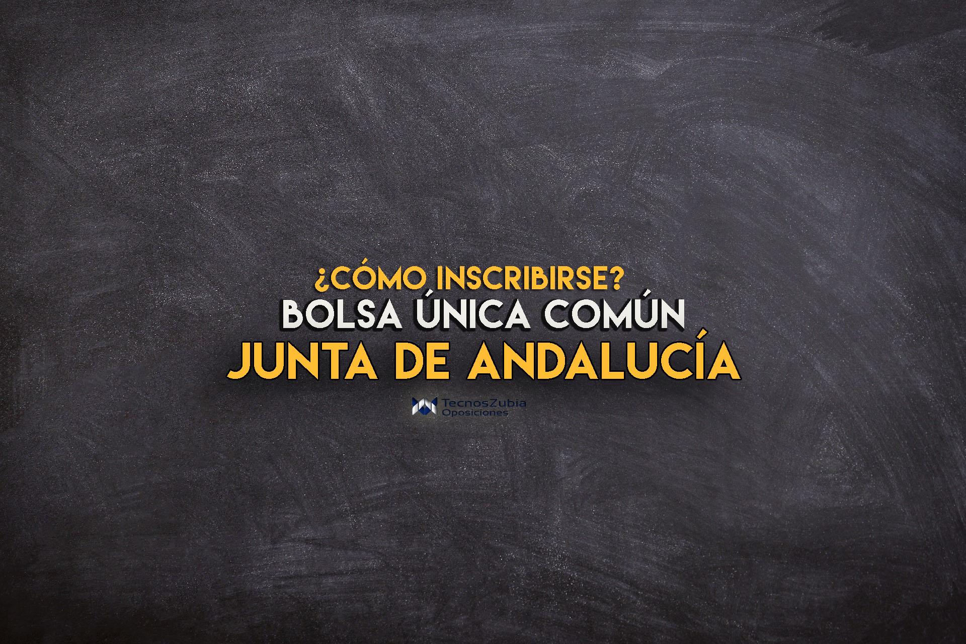 inscripcion bolsa unica comun junta de andalucia